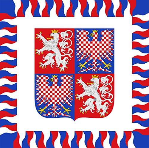 magFlags Large Flag Standard for The President of Bohemia and Moravia 1939-1945 ; Drawing According to Colour Photo of The Original Standard | 1.35m² | 14.5sqft | 120x120cm | 45x45inch ()