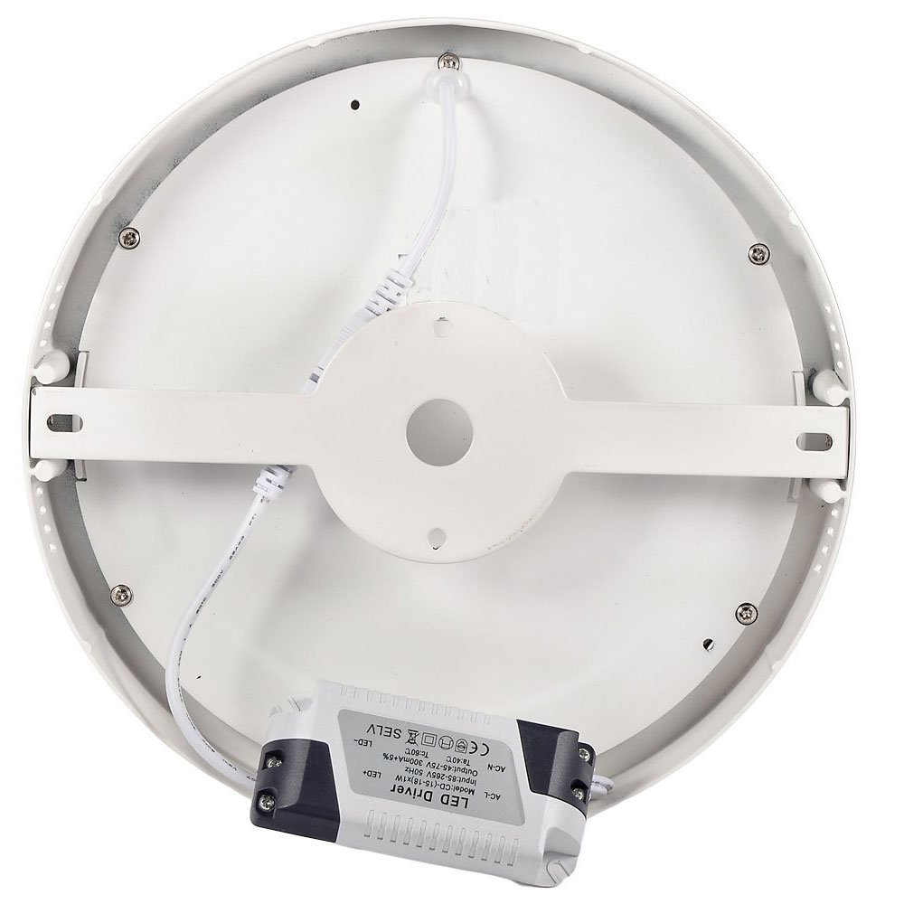 JnDee Surface Mounted LED Panel Flush Light Ceiling Downlight Lamp Circular 6W 1900lm Cool White Commercial Quality