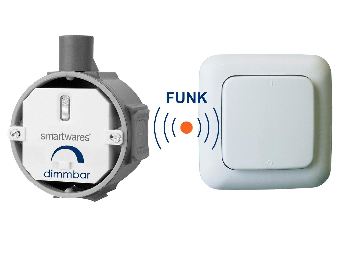 Smartwares mini Funk Einbauschalter 200W Funk-Einbauschalter SH5-TBD-02A