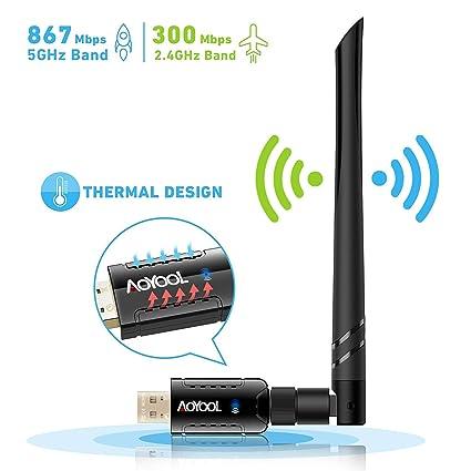 Aoyool - Adaptador WiFi de Doble Banda 1200 Mbps (5G/867 ...