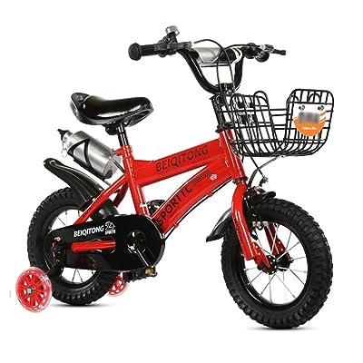 Vélos enfants Bicyclette pour enfants 12|14|16|18|20 Pouces Enfant En Plein Air Bébé Enfant Vélo de Montagne Cadeau de Fille de Garçon pour 2-11 Ans avec Roue de Formation Flash | Panier de