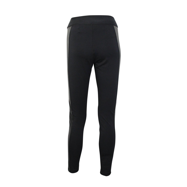 7f559fafbb2cf Amazon.com: European Culture Womens Fuseaux Faux Leather Patch Leggings  Black Small, Medium, Large: Clothing