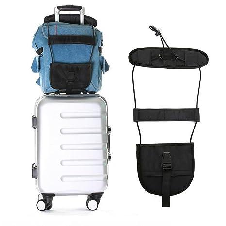 JC ACCESSORIES Elástico ajustable para sujetar equipaje de mano, bolsa pc o abrigo en maleta