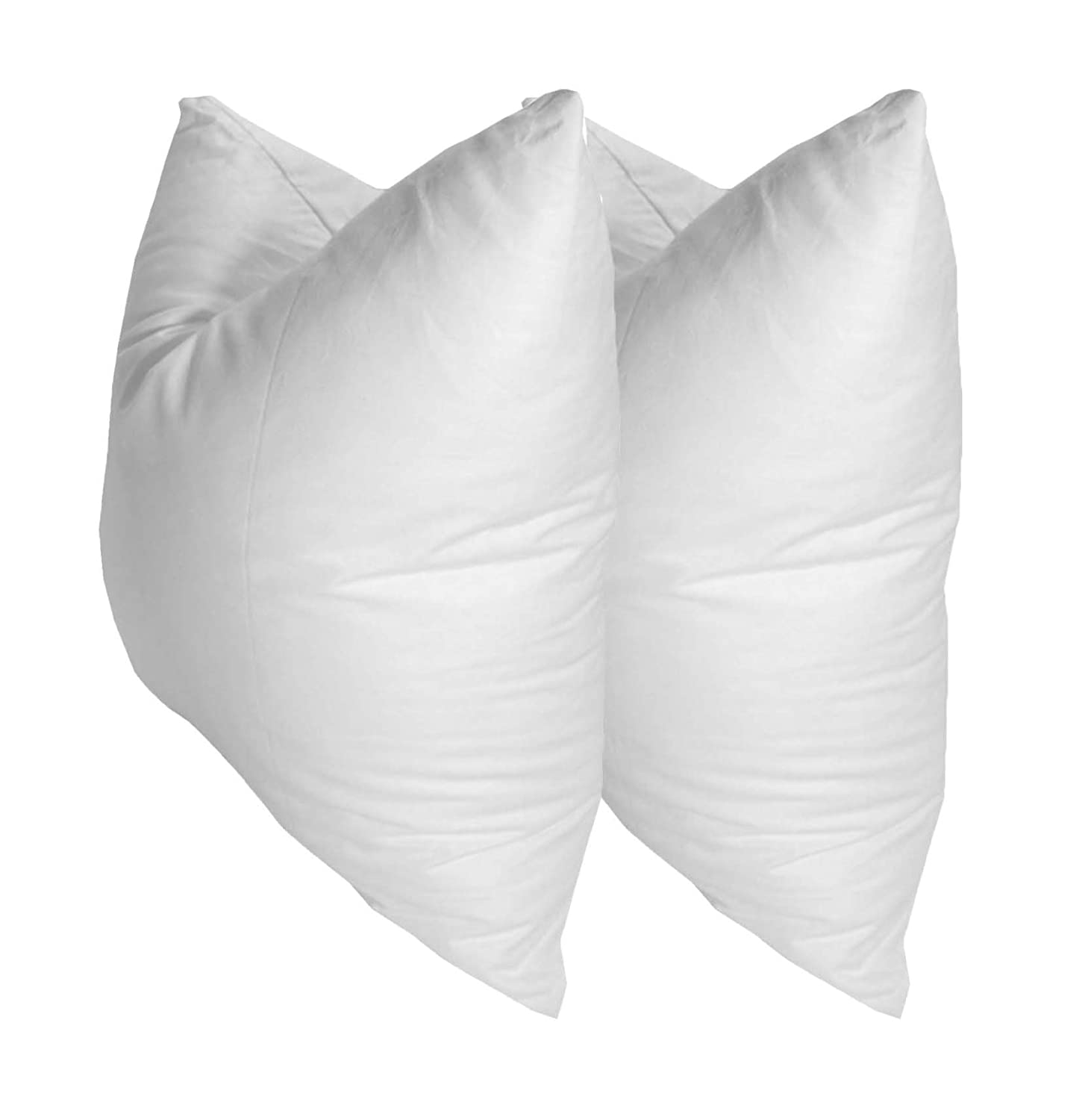 Pillowflex Set of 2 Synthetic Down Alternative Pillow Inserts for Shams 12 Inch by 16 Inch