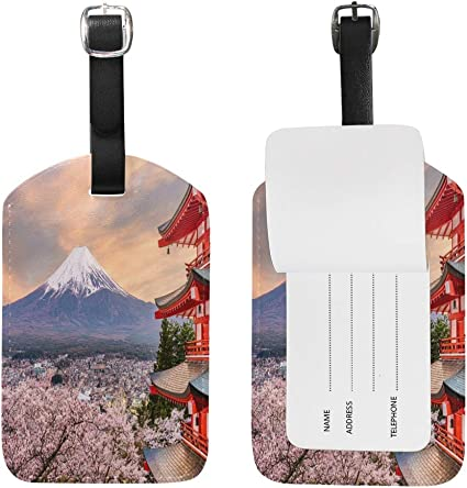Mount Fuji Baggage Tag For Suitcase Bag Accessories 2 Pack Luggage Tags