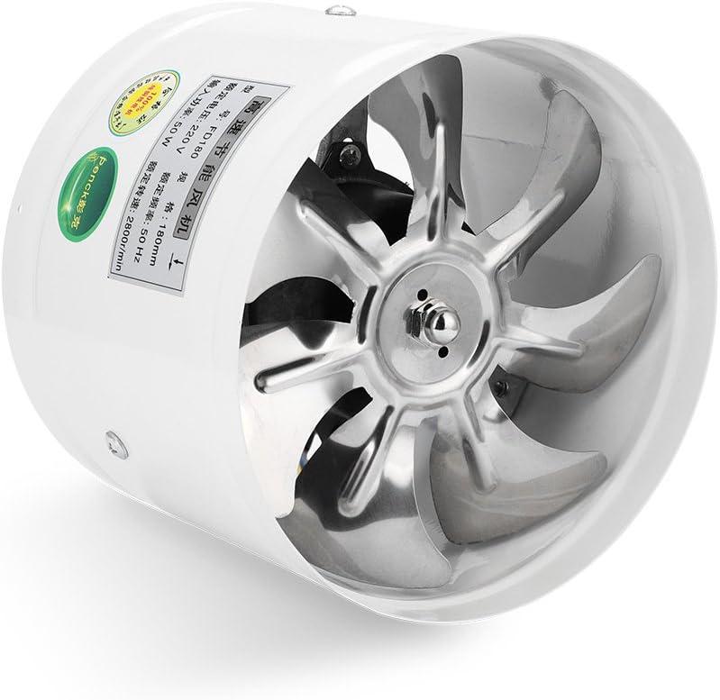 Ventilador de pared con ventilación redonda, ventilador de escape, bajo nivel de ruido para baño, cocina, garaje, ventilación, 50 W, 220 V