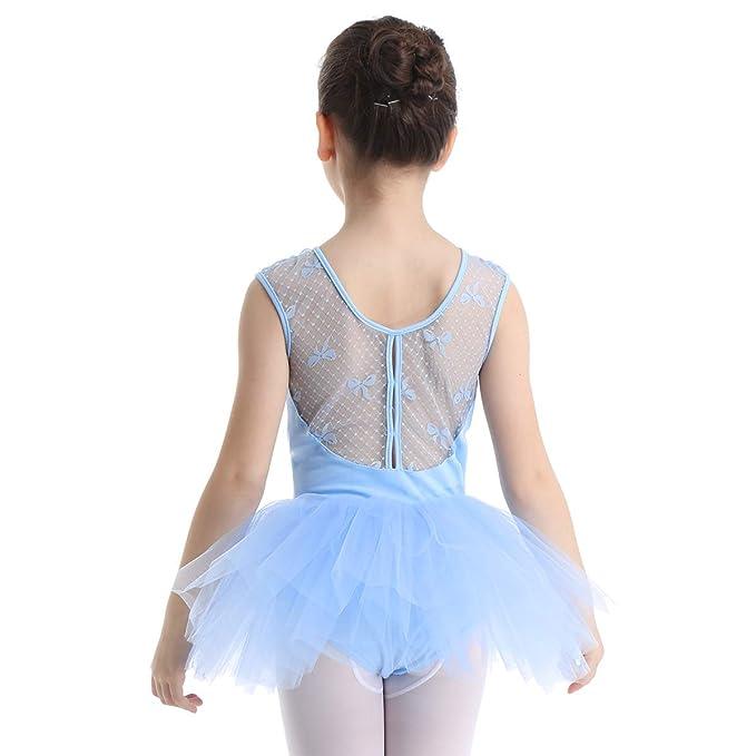 IEFIEL Disfraz de Bailarina Niña Vestido de Ballet Maillot ...