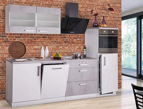 expendio Küchenblock Malea 270 cm mit E-Geräten komplett ...