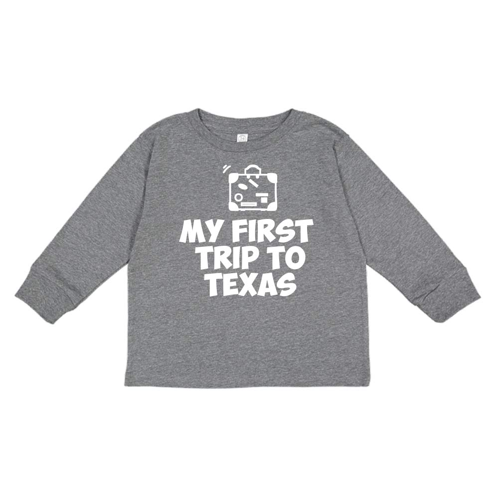 My First Trip to Texas Toddler//Kids Long Sleeve T-Shirt