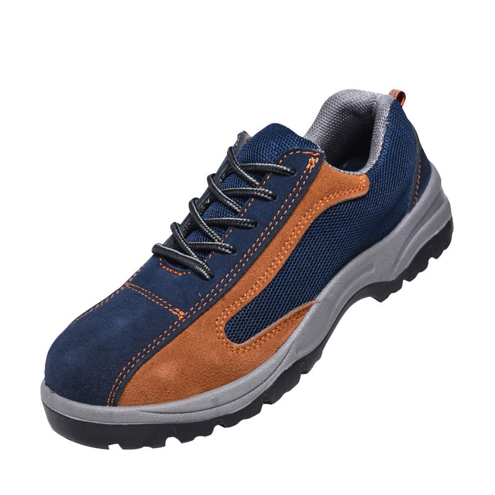 Mxssi Chaussure de S/écurit/é pour Homme Confortable Embout de Protectio en Acier Chaussure de Travail Respirant L/ég/èreet Hommes Randonn/ée Chaussures