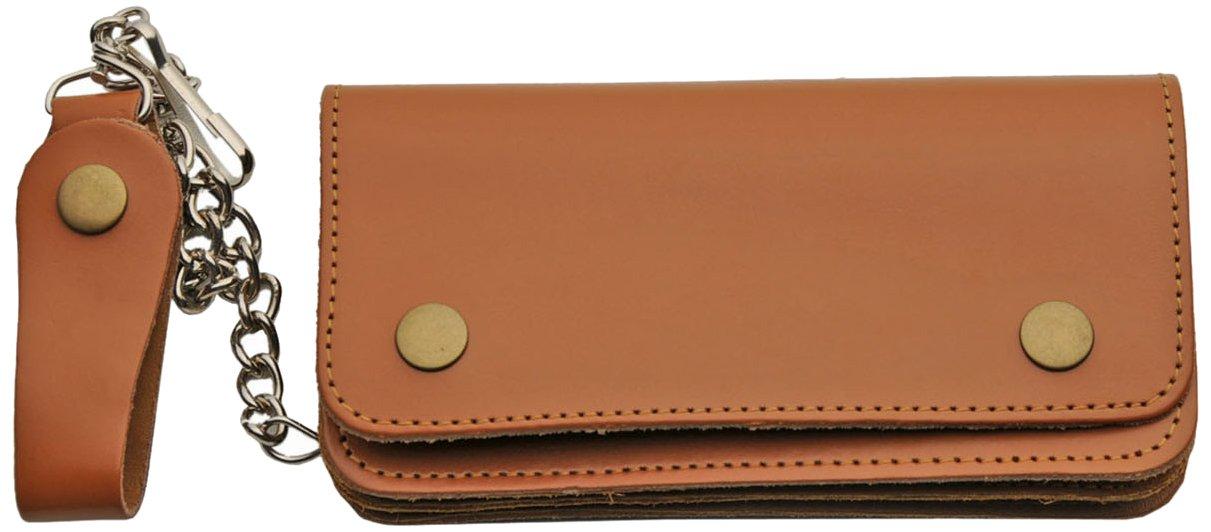 SZCO Supplies Brown Leather Biker Wallet
