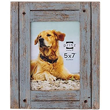 PRINZ Homestead Distressed Wood Frame, 5 by 7-Inch, Gray
