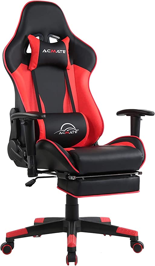 Amazon Com Acmate Massage Gaming Chair Ergonomic Computer Chair