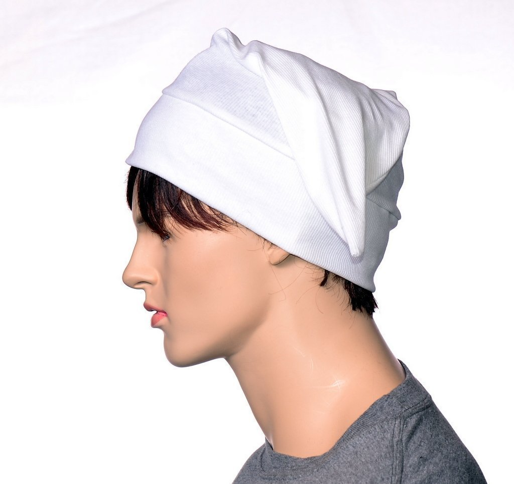 Traditional Cotton White Nightcap Short Pointed Poor Poet Hat