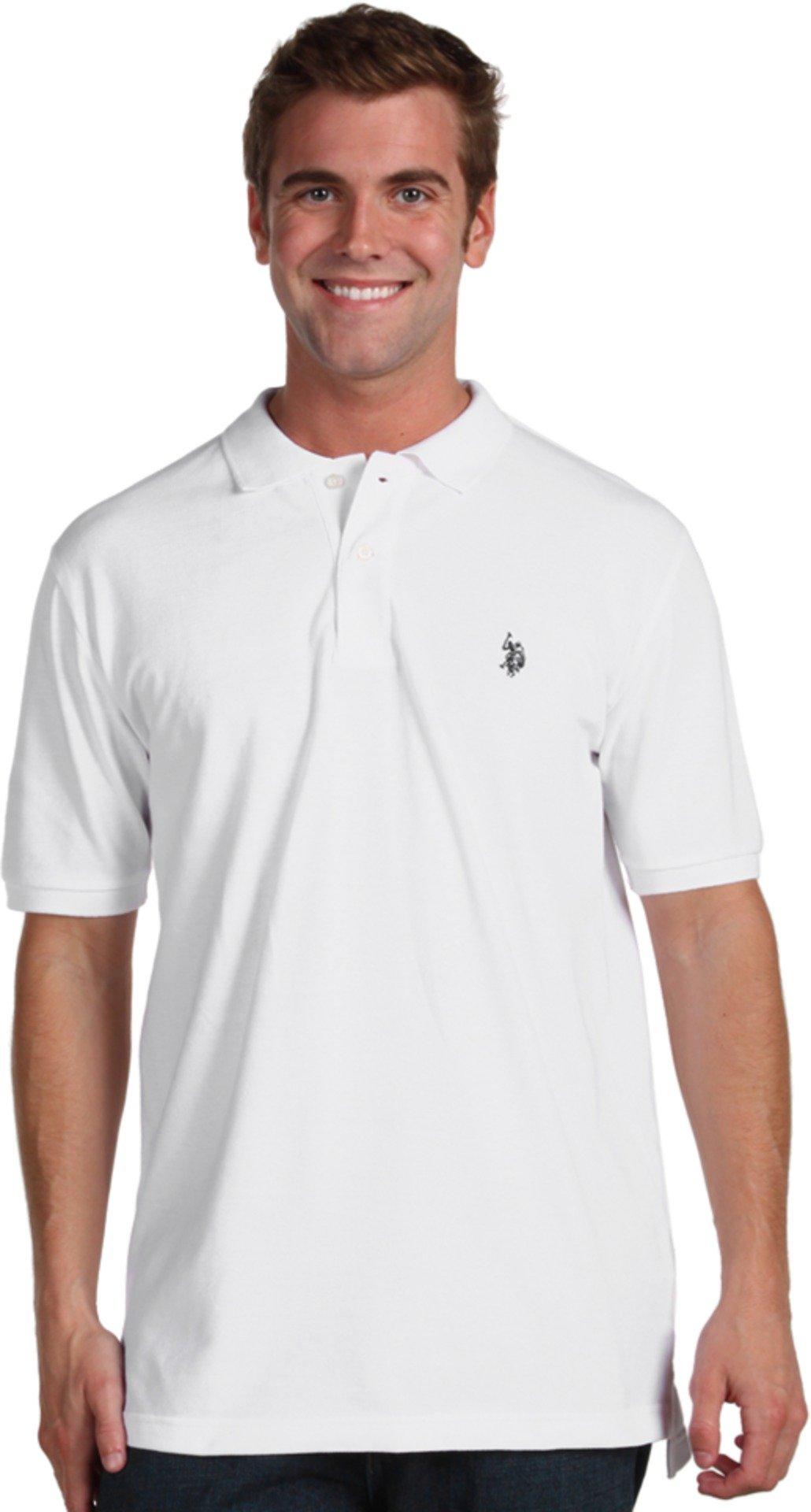 U.S. Polo Assn. Men's Classic Polo Shirt, White, XL