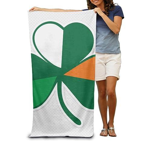 Cool Irish Flag Shamrock Beach Towels For Adults Amazon Ca Home