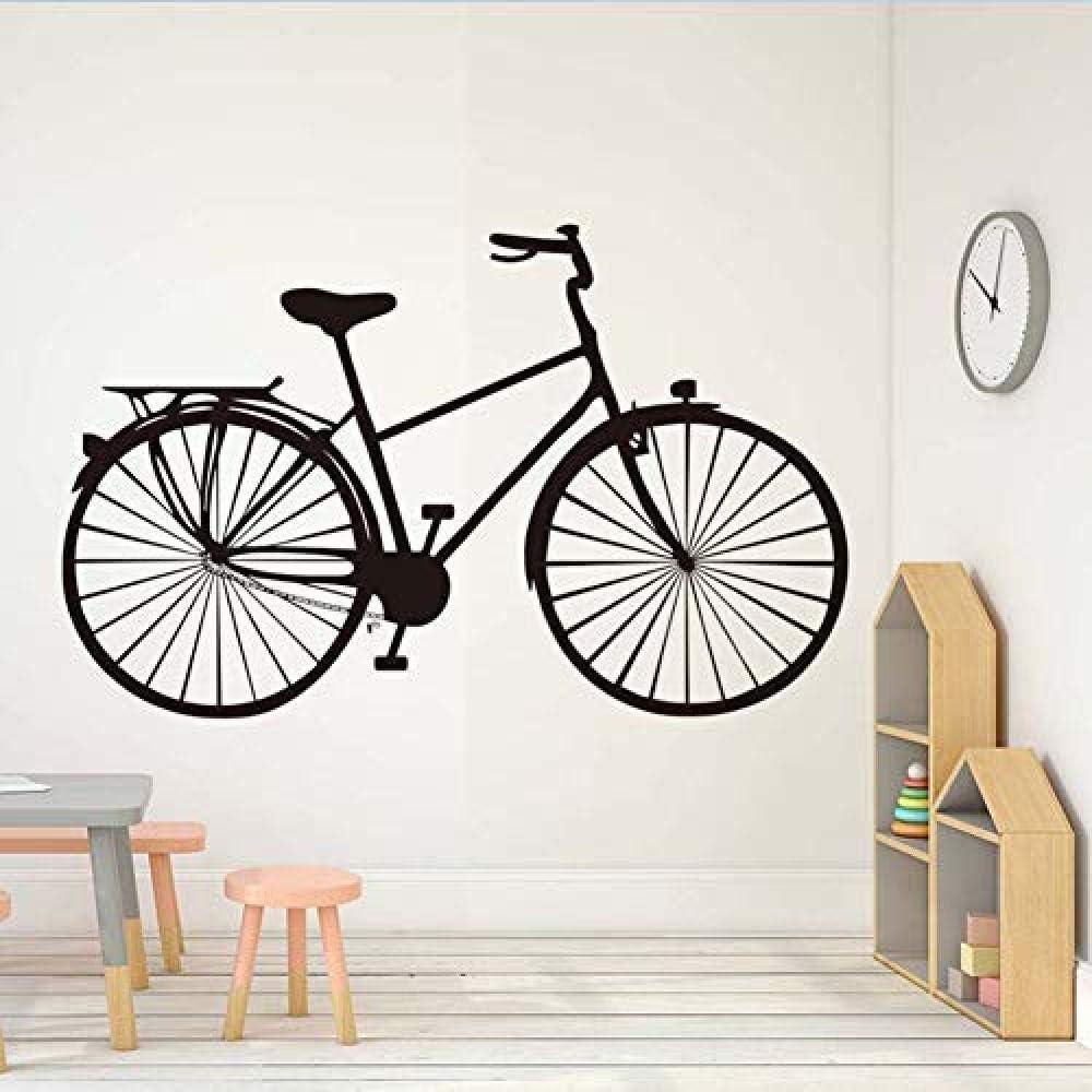 Mural de gran tamaño Pedal antiguo de moda Bicicleta de transporte Etiqueta de la pared para el hogar Sala de estar Decoración de arte 70x44cm
