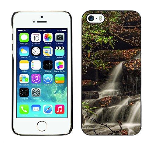 Hülle Case Schutzhülle Cover Premium Case // F00001322 Wasserfall // Apple iPhone 5 5S 5G