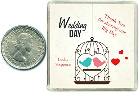 A Traditional Keepsake Coin her Wedding... Lucky Sixpence for the Bride to be