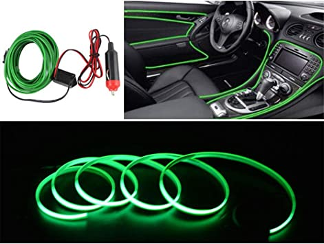 Neon Glow Strips Car EL Wire Light Led Electroluminescent Glowing Strobing Cable