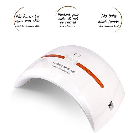 Secador de Uñas 36W UV Lampara LED Uñas para Secado de Gel, Seca Ambas Manos