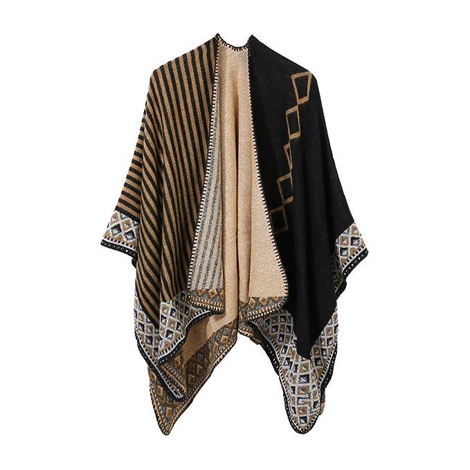 Darringls Abrigos de Invierno Mujer,Chaqueta Tejer Mantón Abrigo Cosiendo Moda Parka Elegantes: Amazon.es: Ropa y accesorios