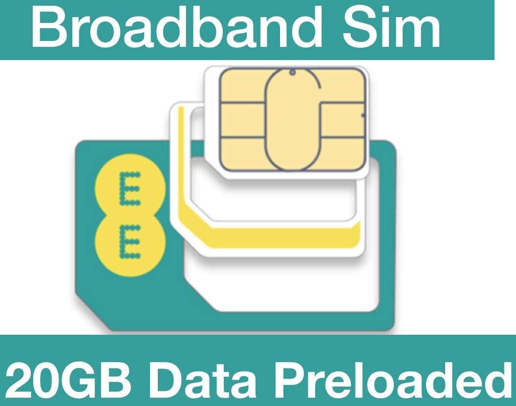 EE 5G/4G Bradband Sim, precargado con 20 GB de Datos Durante 30 ...