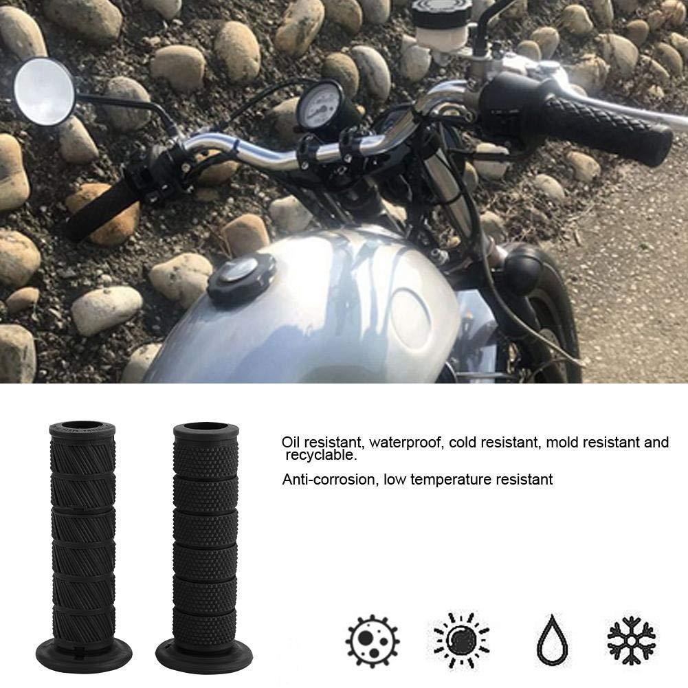 Apto para Motocicleta Retro Hand Grip Covers Modificaci/ón Accesorios 2pcs 22mm Amarillo Marron Manillar de la Motocicleta Universal