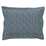 Roostery Gun Weapon Mystery Film Noir Movie Noir Revolver Ditsy Pillow Sham by