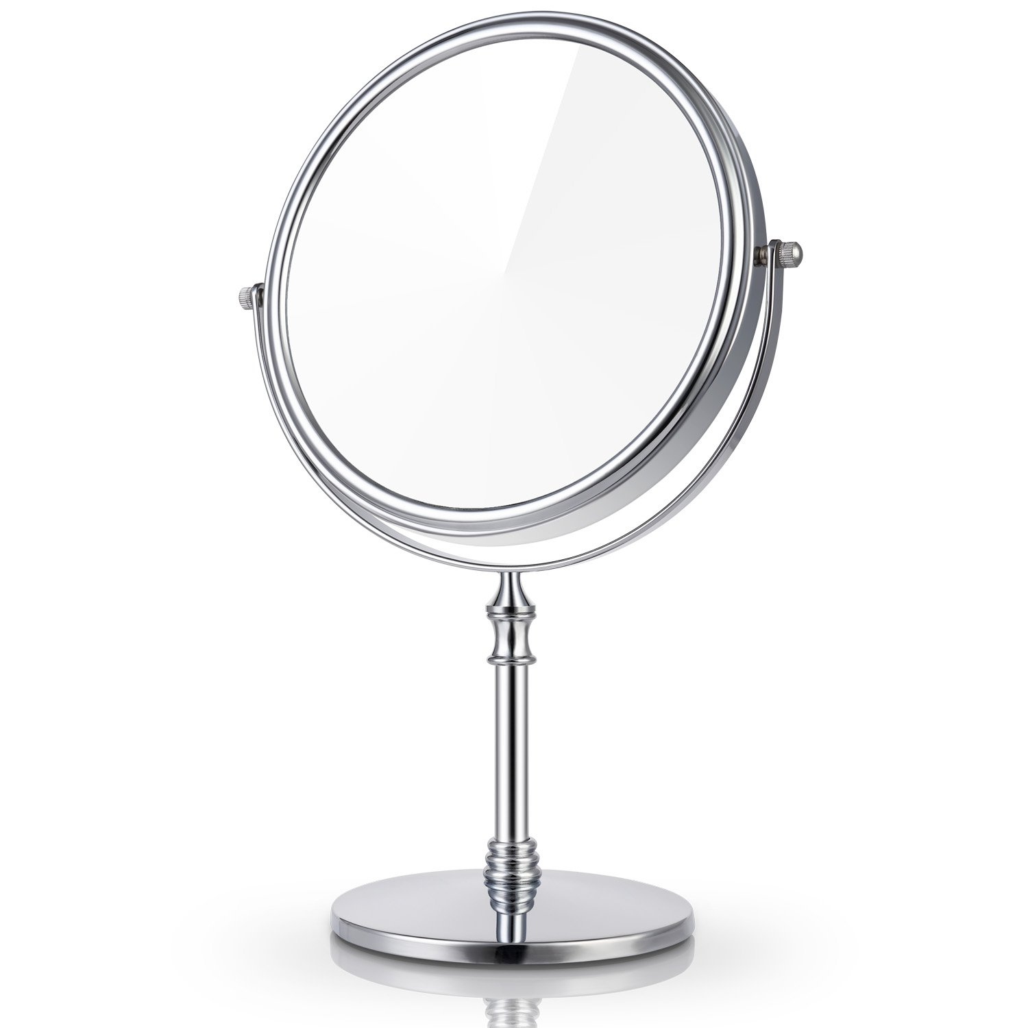 Miusco 7X Magnifying Two Sided Vanity Makeup Mirror, Round, Chrome by Miusco