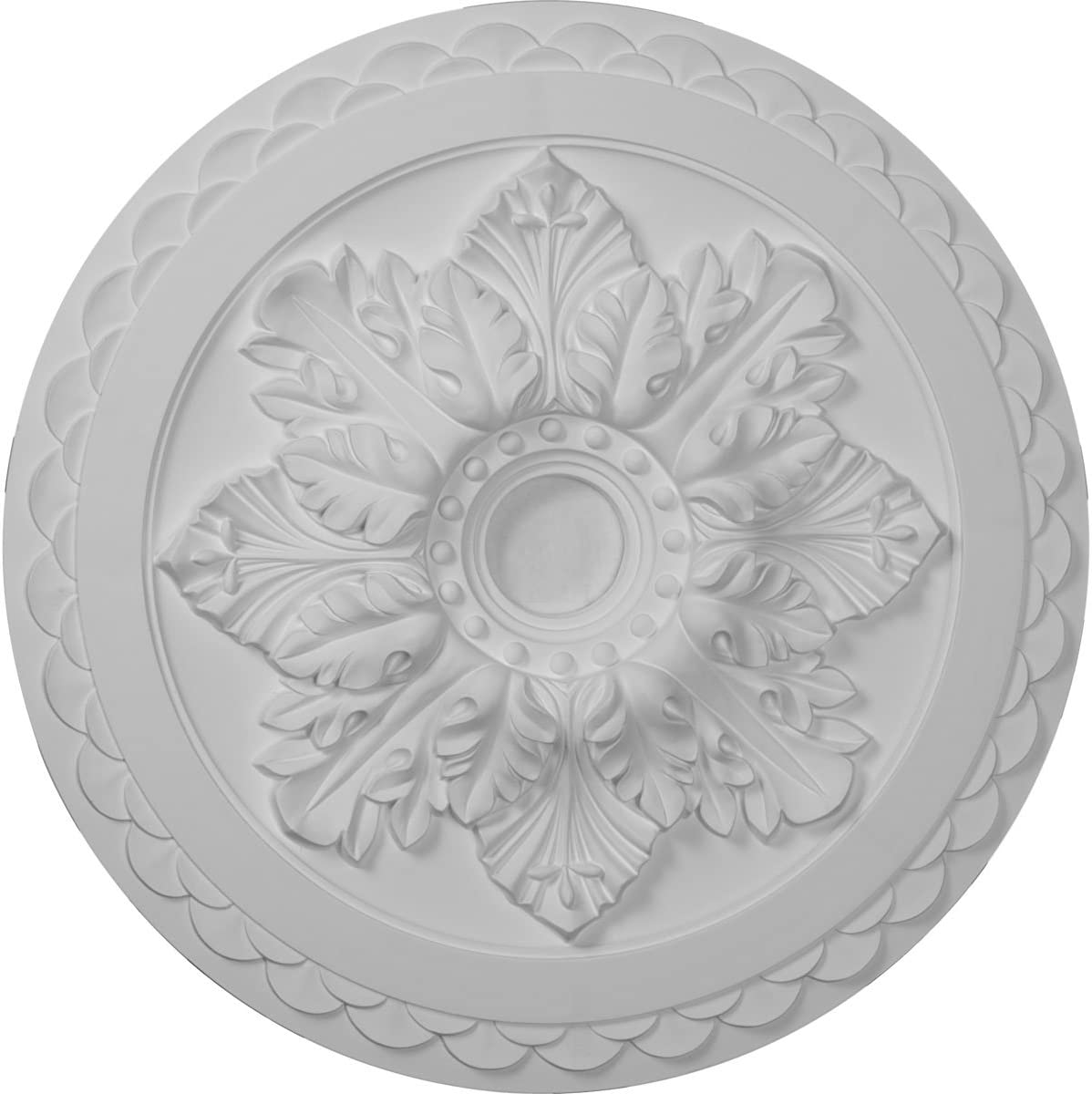 Ekena Millwork Cm23bo Bordeaux Deluxe Ceiling Medallion 23 5 8 Od X 3 Id X 2 P Fits Canopies Up To 4 Factory Primed Home Improvement