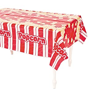 """Plastic Popcorn Table Cover - 54"""" x 108"""" (1-Pack)"""