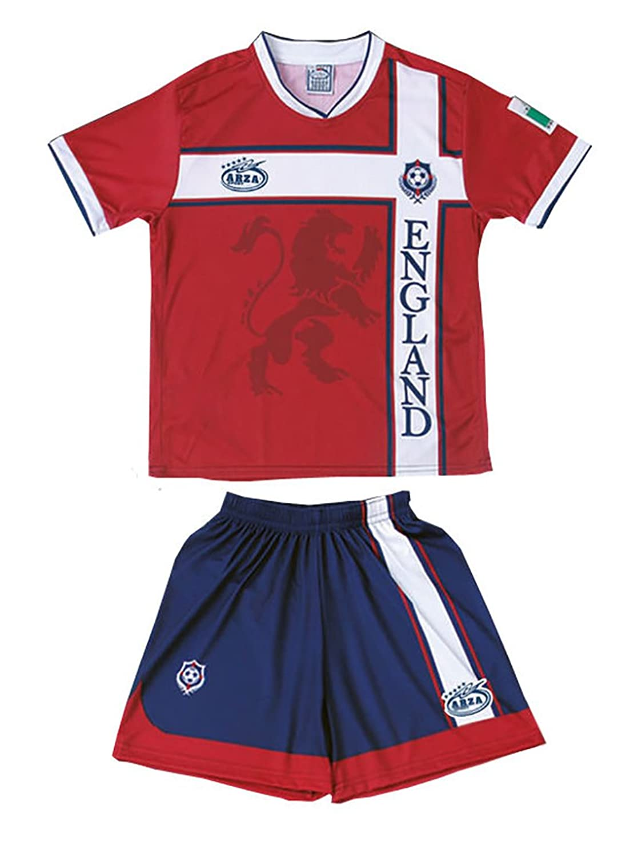 England Arza Youth Soccer Uniform B01NCQZMVHレッド 10