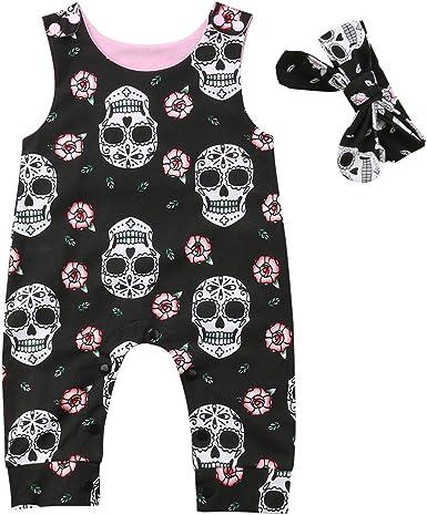 Newborn Baby Girls Clothes Floral Romper Tutu Dress Jumpsuit Playsuit headband