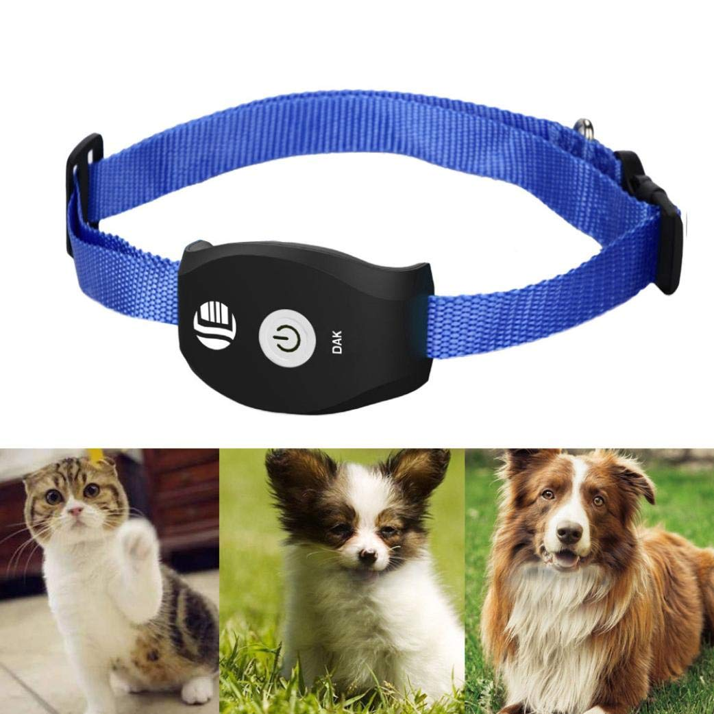 Smart Dog Collar - GPS Location Tracker (Accuracy 5 meters) Rechargeable Pet Realtime GPS/GSM Tracker System (APP for Android/iOS) Pets Tracker TK208