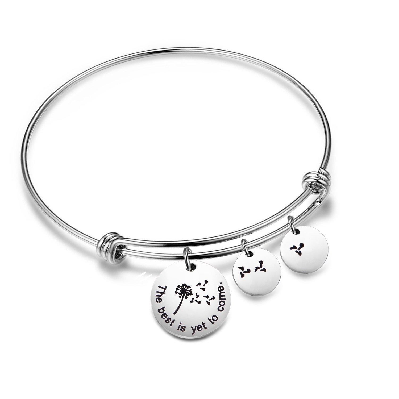 KUIYAI Dandelion Wish Bracelet The Best is Yet to Come Bangle (Bracelet)