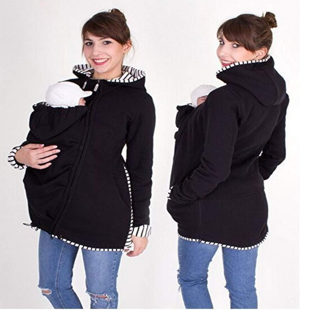 3df9a6903361 Kangaroo Porte-bébé Pull Sweatshirt Sweat à Capuche Manteau Veste Polaire  Vêtement Hoodies Hiver Maternité