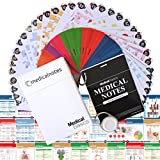 Medical Notes 67 Medical Reference Cards (3.5' x 5' Cards) for Internal Medicine, Surgery, Anesthesia, OBGYN, Pediatrics, Neurology, and Psychiatry - Waterproof Full Color cards