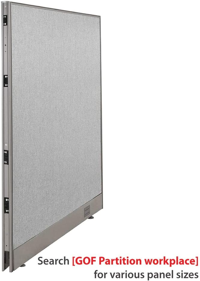 "GOF Single Office Partition, Large Fabric Room Divider Panel, Custom Built Workstation 48"" W x 48"" H"