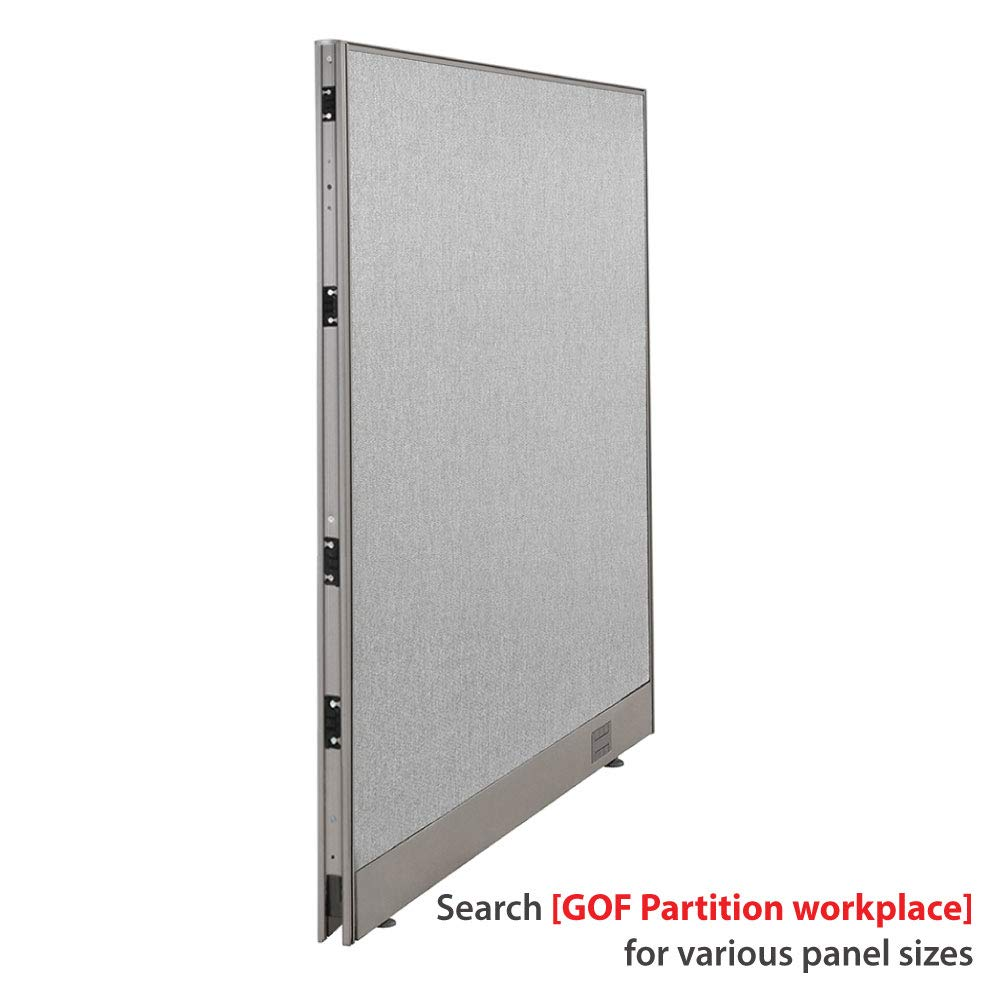 GOF Single Office Partition, Large Fabric Room Divider Panel, Custom Built Workstation 48'' W x 48'' H