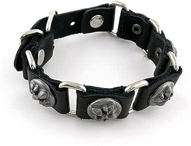 Amazon.com: 1 PCS Leather Wristband Strand Bracelet