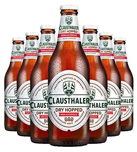 (Clausthaler Amber Dry Hopped Non-Alcoholic Beer, 12-oz (350 ml) Case of 12 Glass Bottles)