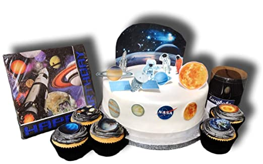 Paquete de decoración para tartas con diseño de planetas del ...