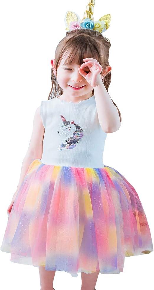 Disfraz de Princesa de Unicornio para niñas pequeñas, Vestido de ...