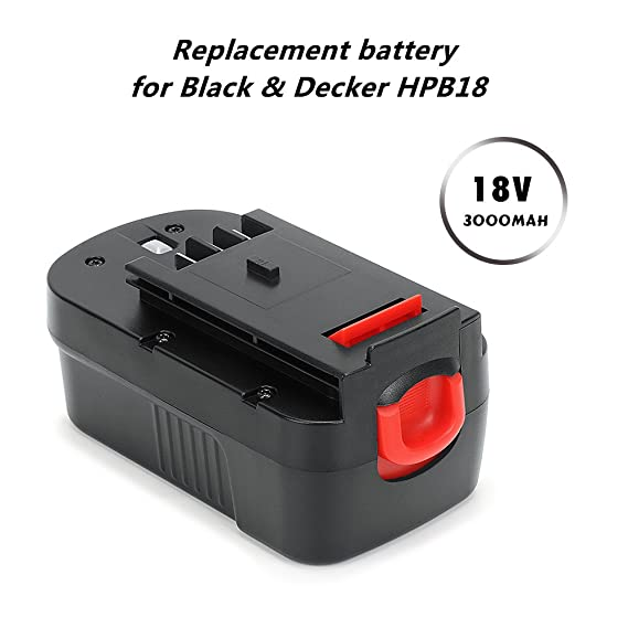 POWERAXIS 18V 3.0Ah Ni-MH Atornillador Batería de Repuesto para Black & Decker 244760-00 A1718 A18 A18E A18NH FIRESTORM A18 FSB18 HPB18: Amazon.es: ...