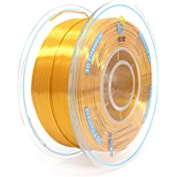 YOUSU Tangle-Free Silk PLA Pearlescent 3D Filament with Gorgeous Surface, Gold, 1.75mm 1kg, Strong bonding and Overhang Performance. Compatible with Most of 3D Printer.