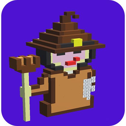 Helloween Pixel Art-Coloring By -