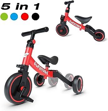 besrey Triciclos para Niños, 5 en 1 Un Bici polivalente, Triciclo ...