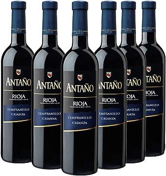 Antaño Vino Tinto D.O Rioja - Pack de 6 Botellas x 750 ml: Amazon.es: Alimentación y bebidas