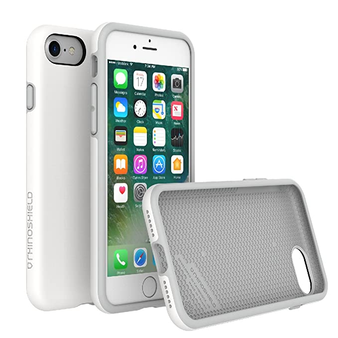 finest selection 16b26 c133c RhinoShield Case for iPhone 8 / iPhone 7 [NOT Plus] | [PlayProof] | Heavy  Duty Shock Absorbent [High Durability] Scratch Resistant. Ultra Thin. 11ft  ...